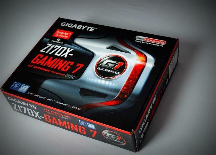 Gigabyte Z170X Gaming 7 caja delantera