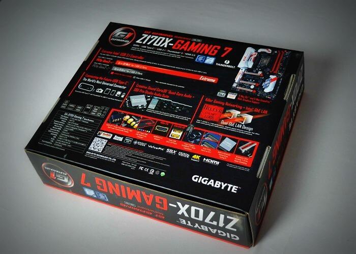 Gigabyte Z170X Gaming 7 caja trasera