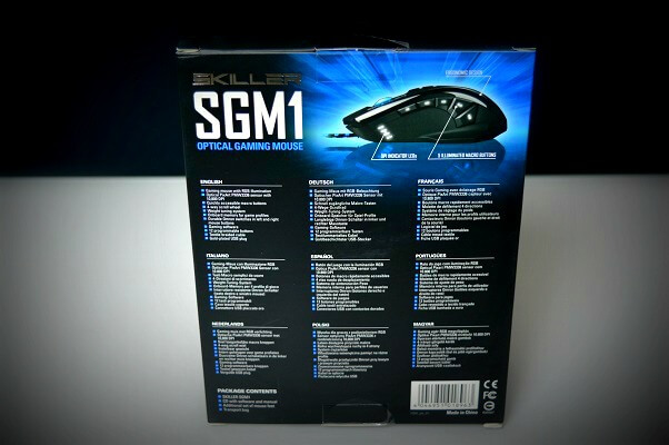Sharkoon SGM1 caja trasera
