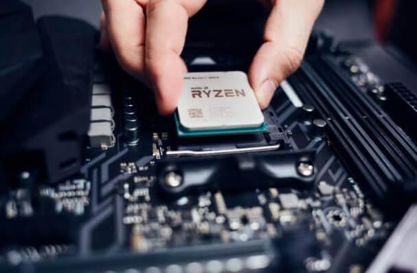 montar el procesador en la placa base rysen